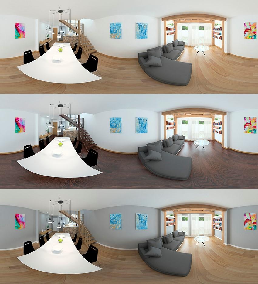 Foto de realidad virtual en reformas de viviendas y locales comerciales